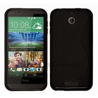 Housse etui coque pochette silicone gel fine pour HTC Desire 510 + film ecran - NOIR
