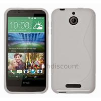 Housse etui coque pochette silicone gel fine pour HTC Desire 510 + film ecran - BLANC