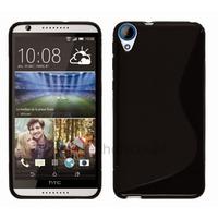 Housse etui coque pochette silicone gel fine pour HTC Desire 820 + film ecran - NOIR