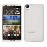 Housse etui coque pochette silicone gel fine pour HTC Desire 820 + film ecran - BLANC