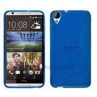 Housse etui coque pochette silicone gel fine pour HTC Desire 820 + film ecran - BLEU