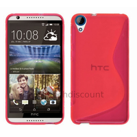 Housse etui coque pochette silicone gel fine pour HTC Desire 820 + film ecran - ROSE