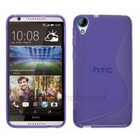 Housse etui coque pochette silicone gel fine pour HTC Desire 820 + film ecran - MAUVE