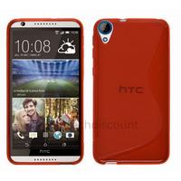 Housse etui coque pochette silicone gel fine pour HTC Desire 820 + film ecran - ROUGE