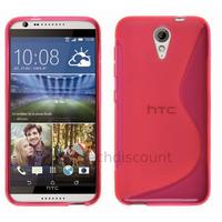 Housse etui coque pochette silicone gel fine pour HTC Desire 620 + film ecran - ROSE