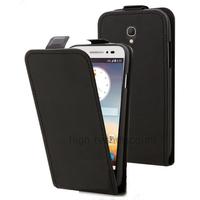 Housse etui coque PU cuir fine pour Alcatel One Touch Pop 2 (4.5) 5042 + film ecran - NOIR