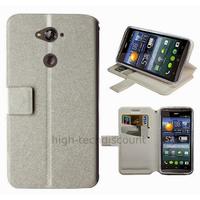 Housse etui coque pochette portefeuille pour Acer Liquid E600 + film ecran - BLANC