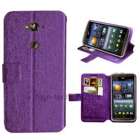 Housse etui coque pochette portefeuille pour Acer Liquid E600 + film ecran - MAUVE