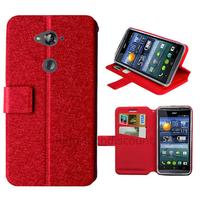 Housse etui coque pochette portefeuille pour Acer Liquid E600 + film ecran - ROUGE