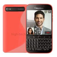 Housse etui coque pochette silicone gel fine pour Blackberry Classic + film ecran - ROSE