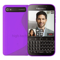 Housse etui coque pochette silicone gel fine pour Blackberry Classic + film ecran - MAUVE