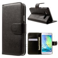 Housse etui coque pochette portefeuille PU cuir pour Samsung Galaxy A3 + film ecran - NOIR
