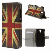 Housse etui coque pochette portefeuille PU cuir pour HTC Desire 620 + film ecran - UK
