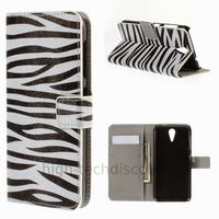 Housse etui coque pochette portefeuille PU cuir pour HTC Desire 620 + film ecran - ZEBRE