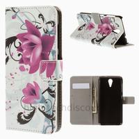Housse etui coque pochette portefeuille PU cuir pour HTC Desire 620 + film ecran - LOTUS