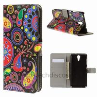 Housse etui coque pochette portefeuille PU cuir pour HTC Desire 620 + film ecran - PAISLEY