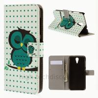 Housse etui coque pochette portefeuille PU cuir pour HTC Desire 620 + film ecran - HIBOU