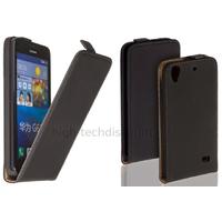 Housse etui coque pochette simili cuir fine pour Huawei Ascend G620S + film ecran - NOIR