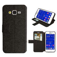 Housse etui coque pochette portefeuille pour Samsung G360H Galaxy Core Prime + film ecran - NOIR