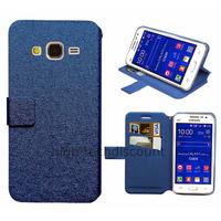 Housse etui coque pochette portefeuille pour Samsung G360H Galaxy Core Prime + film ecran - BLEU