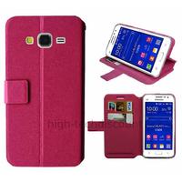 Housse etui coque pochette portefeuille pour Samsung G360H Galaxy Core Prime + film ecran - ROSE