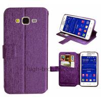 Housse etui coque pochette portefeuille pour Samsung G360H Galaxy Core Prime + film ecran - MAUVE