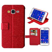 Housse etui coque pochette portefeuille pour Samsung G360H Galaxy Core Prime + film ecran - ROUGE