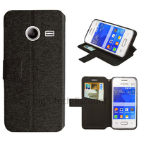 Housse etui coque pochette portefeuille pour Samsung G110H Galaxy Pocket 2 + film ecran - NOIR