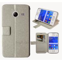 Housse etui coque pochette portefeuille pour Samsung G110H Galaxy Pocket 2 + film ecran - BLANC