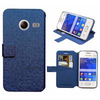 Housse etui coque pochette portefeuille pour Samsung G110H Galaxy Pocket 2 + film ecran - BLEU