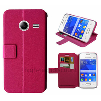 Housse etui coque pochette portefeuille pour Samsung G110H Galaxy Pocket 2 + film ecran - ROSE