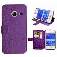 Housse etui coque pochette portefeuille pour Samsung G110H Galaxy Pocket 2 + film ecran - MAUVE