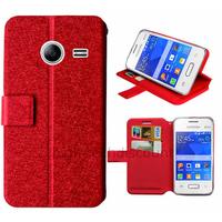 Housse etui coque pochette portefeuille pour Samsung G110H Galaxy Pocket 2 + film ecran - ROUGE