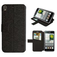 Housse etui coque pochette portefeuille pour Huawei Ascend G620S + film ecran - NOIR