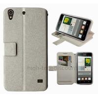 Housse etui coque pochette portefeuille pour Huawei Ascend G620S + film ecran - BLANC