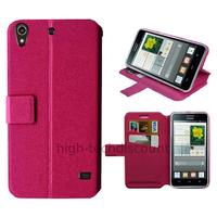 Housse etui coque pochette portefeuille pour Huawei Ascend G620S + film ecran - ROSE