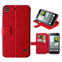Housse etui coque pochette portefeuille pour Huawei Ascend G620S + film ecran - ROUGE