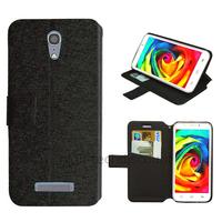 Housse etui coque pochette portefeuille pour Alcatel One Touch Pop S7 7045 + film ecran - NOIR