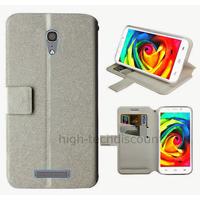 Housse etui coque pochette portefeuille pour Alcatel One Touch Pop S7 7045 + film ecran - BLANC