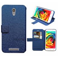 Housse etui coque pochette portefeuille pour Alcatel One Touch Pop S7 7045 + film ecran - BLEU
