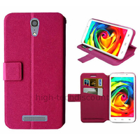 Housse etui coque pochette portefeuille pour Alcatel One Touch Pop S7 7045 + film ecran - ROSE