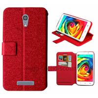 Housse etui coque pochette portefeuille pour Alcatel One Touch Pop S7 7045 + film ecran - ROUGE