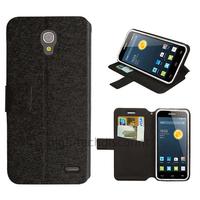 Housse etui coque pochette portefeuille pour Alcatel One Touch Pop 2 (4.5) 5042 + film ecran - NOIR
