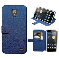 Housse etui coque pochette portefeuille pour Alcatel One Touch Pop 2 (4.5) 5042 + film ecran - BLEU