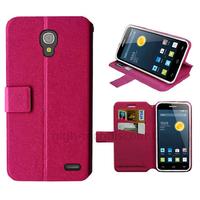 Housse etui coque pochette portefeuille pour Alcatel One Touch Pop 2 (4.5) 5042 + film ecran - ROSE