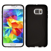 Housse etui coque pochette silicone gel fine pour Samsung G920F Galaxy S6 + film ecran - NOIR