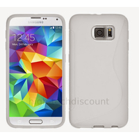 Housse etui coque pochette silicone gel fine pour Samsung G920F Galaxy S6 + film ecran - BLANC