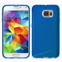 Housse etui coque pochette silicone gel fine pour Samsung G920F Galaxy S6 + film ecran - BLEU