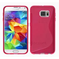 Housse etui coque pochette silicone gel fine pour Samsung G920F Galaxy S6 + film ecran - ROSE