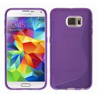 Housse etui coque pochette silicone gel fine pour Samsung G920F Galaxy S6 + film ecran - MAUVE
